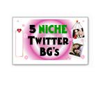 Twitter Niche Backgrounds